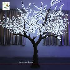 uvg artificial cherry tree led lights white wedding decoration
