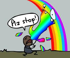 Puking Rainbow Meme - rainbow puke meme