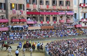 Palio Di Siena Flags Palio Of Siena Medieval Horse Race