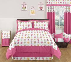 queen size bedding for girls pink owl twin bedding home beds decoration