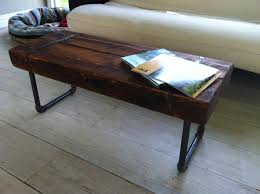 steel coffee table legs reclaimed barnwood coffee table or bench with industrial pipe legs