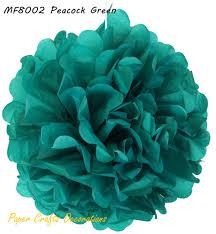 peacock baby shower aliexpress buy 25pcs lot 15cm 6inch peacock green tissue