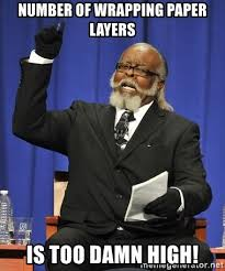 meme wrapping paper number of wrapping paper layers is damn high rent is