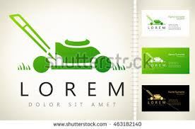 Mowing Business Cards Lawn Mower Logo Vector Stock Vector 414022651 Shutterstock