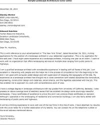 landscape consultant cover letter