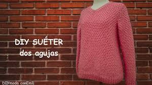sueter tejido a dos agujas youtube suéter o jersey de mujer en dos agujas paso a paso ganchillo