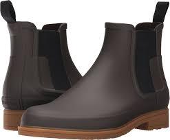amazon com hunter mens original dark sole chelsea rain boot boots