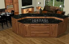 island cooktop kitchen living rooms living rooms and kitchens