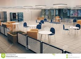 office canteen design canteen interior night city view stock illustration image 70771369