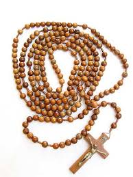 wooden rosary 20 decade rosary cord mounted brown wood bead rosarycard net