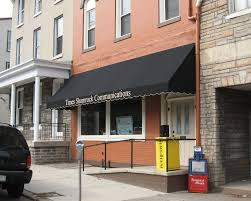 shed style architecture shed style awning across store front kreider s canvas service inc