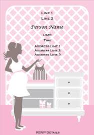 design free baby shower invitation template