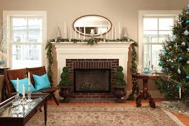 christmas livingroom mantel decorating ideas freshome
