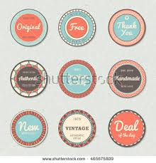 vintage labels template set free shipping stock vector 285711323