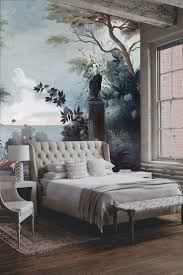 House Murals by Living Room Wallpaper Feature Wall Bedroom Grey Accent Mural Walls
