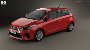 toyota hatchback 360 view of toyota yaris 5 door hatchback 2014 3d model hum3d store