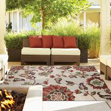 Red Outdoor Rug by Thomasville Veranda Indoor Outdoor Rug Collection Kiana Shell Red