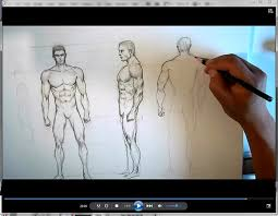 how to draw man u0027s body and anatomy with pencil