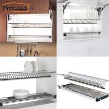 stainless steel dish drying rack for width 765mm kitchen cabinet