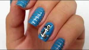 how do marine nail design manicures for the summer 2016 youtube