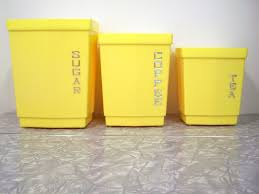 yellow kitchen canister set 13 best vintage retro canister sets images on