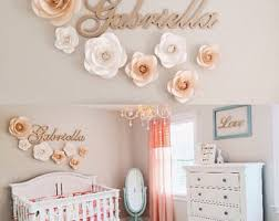 Nursery Wall Decoration Baby Room Wall Decor Paper Flowers Paper Flowers The