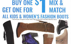 kmart s boots on sale kmart fashion boots buy 1 get 1 for 1 reward my shopping