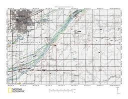 Map Of Counties In Nebraska Platte River Big Blue River Drainage Divide Area Landform Origins