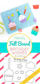 birthday wishes templates travel felt board birthday wishes cupcake play set with free