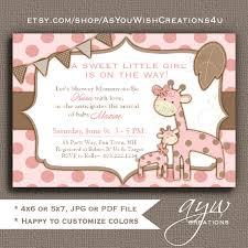 giraffe baby shower invitation invitation giraffe baby