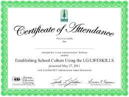 doc728534 sample of certificate of lobby attendant sample resume
