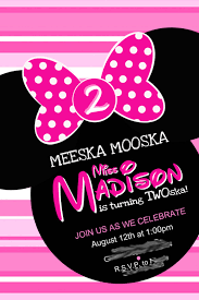 28 minnie mouse invitation template free sample example