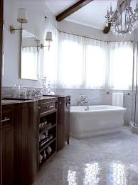 bathrooms small bathroom with white bathtub and shower cubical