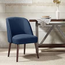 Madison Park Chairs Madison Park Bexley Rounded Back Dining Chair Blue Fabric And