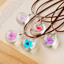 real crystal necklace images Handmade real pressed flower plum blossom lady crystal sweater jpg