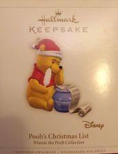 winnie the pooh poohs list 2006 hallmark ornament