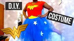 diy wonder woman tutu costume no sew youtube