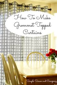 How To Sew Curtains With Grommets Grommet Top Curtain Tutorial Simple Simon And Company