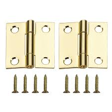Mortise Interior Door Hardware Shop Gatehouse Door Hardware Hinges 2 Pack 1 5 In H Brass Plated