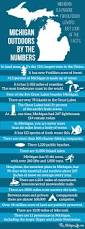 michigan outdoors by the numbers infographic infographic