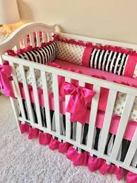 Pink And Black Crib Bedding Sets Black And White Stripe Gold Dot And Pink Crib Bedding Pink