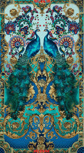 peacock turquoise timeless treasures hyde park panel peacock print peacocks and