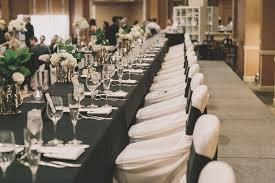 black and white chair covers reception décor photos white chair covers inside weddings