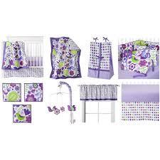 bacati botanical purple multi 10 piece nursery in a bag crib