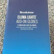 eluma lights speaker system brookstone other new in box eluma lights add on globes poshmark