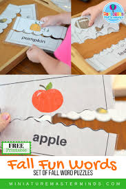 fall printable word puzzles miniature masterminds