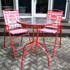 patio bistro table and chairs red table and chairs set red coca cola patio bistro table and chairs