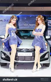 hyundai car models unidentified model hyundai car on display stock photo 346920035