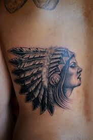 collection of 25 indian chief n wolf on back shoulder