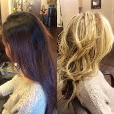platinum blonde and dark brown highlights redlands hair stylist dark brown hair color lighted to platinum